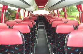 Inside 37 -53 Seater Coach
